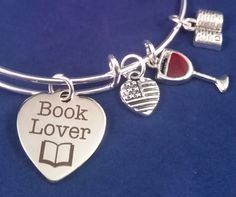 The Book Lover Charm Bangle Bracelet