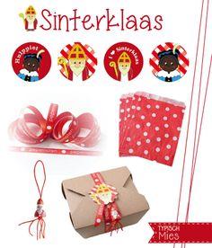 Kadootjes of surprises inpakken voor #Sinterklaas? Versier ze met deze leuke lintjes, gelukspoppetjes, zakjes, stickers en buttons.