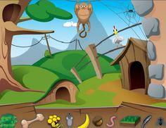 Wat eten de dieren? Een online spelletje over voedsel van dieren.