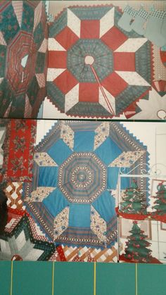 Mary Jo B created beautiful tree skirts featuring Jinny's fabrics and the castle wall pattern Wall Patterns, Quilt Patterns, Castle Wall, Show And Tell, Xmas Decorations, Tree Skirts, Quilting, Fabrics, Mary