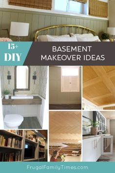 Yes you CAN have a beautiful basement! Check out these affordable DIY projects to make your basement beautiful and functional. Included are ideas to m
