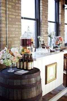 A gorgeous old school gentleman's bar #vintage #vintagewedding #rustic #diywedding #wedding