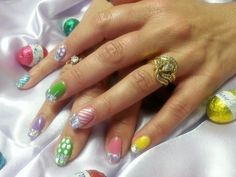 CND Shellac Easter Nails