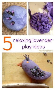 Lovely relaxing lavender sensory play activities