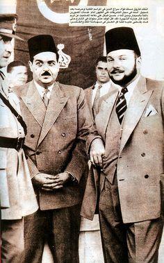 HM King Farouk with Fouad Serag El Din Pacha
