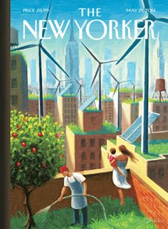 A Bright Future - The New Yorker Cover, May 2014 Poster Print by Eric Drooker at the Condé Nast Collection The New Yorker, New Yorker Covers, Capas New Yorker, May 19th, New Yorker Cartoons, Art Prints For Sale, Bright Future, Illustrations, Cover Art
