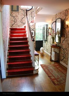 Wallpaper Kitchen Design, Pictures, Remodel, Decor and Ideas - page 16 Clarence House Flowering Quince Clarence House, Future House, Eclectic Wallpaper, Hallway Colours, Tree Wallpaper, Hallway Wallpaper, Amazing Wallpaper, Wallpaper Ideas, Office Wallpaper