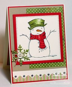 Snowman MFTWSC86 by Stamper K - Cards and Paper Crafts at Splitcoaststampers