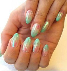 Pastel Mylar nail art