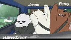 Nico, Jason, Percy XD