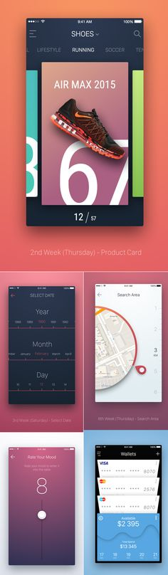 Professional mobile UI kits with higt-quality iOS screens and free PSD elements can make your design flow simple and thoughtful. With tons of useful UI elements Web Design, App Ui Design, User Interface Design, Mobile Application Design, Mobile Ui Design, Ui Kit, Card Ui, Marathon, Ui Patterns