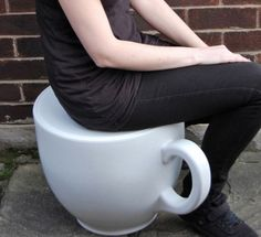 Tea Cup Stool Grand-daughters would love these...