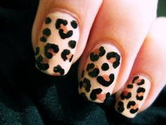Hand Painted Leopard Nails