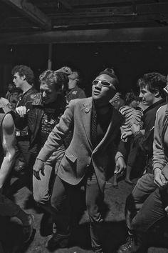 Punks dancing at The Island, photo by Ben de Soto, Houston, 1982