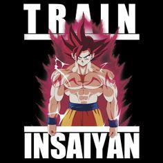 """""""Train insaiyan - super saiyan god Goku version 2"""" T-Shirts & Hoodies by Ali Gokalp   Redbubble"""