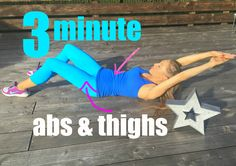 3 Minute Ab and Thigh Toning Workout