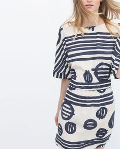 ZARA - WOMAN - PRINTED DRESS Fashion And Beauty Tips, Love Fashion, Autumn Fashion, Fashion Outfits, Mini Robes, Zara Dresses, Zara Women, Well Dressed, Pretty Outfits