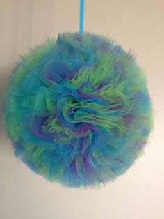 SALE Tulle pom poms for birthday party parties by SunkissCreations, $4.00