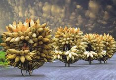 Looks like a spiky way to travel, Vietnam. Amazing art created by produce on bicycles! www.urbanrambles.com