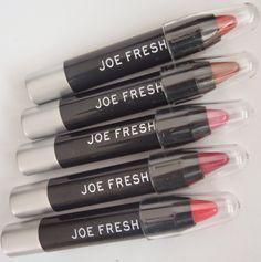 Sparkled Beauty: Joe Fresh Chubby lipstick set