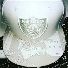 Oakland Raiders Custom Brim Snapback or Fitted Cap America's Most Wanted