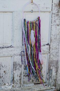Bohemian Dreamcatcher, Hippie, Pink, Green, Chartreuse, Boho Wall Hanging, Native, Gypsy by Studio Yuki