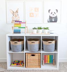 Cube Shelves, Storage Shelves, Storage Spaces, Closet Storage, Cube Storage Baskets, Basket Shelves, Baby Nursery Decor, Nursery Room, Nursery Storage