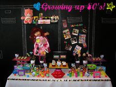 Growing up 80's! This is such a fun 30th birthday theme!