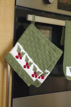 Oppskrifter - Viking of Norway Knitted Christmas Decorations, Christmas Crochet Patterns, Christmas Sewing, Christmas Knitting, Knitted Dishcloth Patterns Free, Knit Dishcloth, Crochet Home, Crochet Crafts, Tapestry Crochet