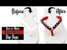 of July Flip Flops with Paper Beads Make Paper Beads, Paper Bead Jewelry, How To Make Paper, How To Make Beads, Diy Jewelry, Beaded Jewelry, Handmade Jewelry, Rollers, Eco Friendly Paper