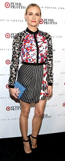 Diane Kruger wearing Peter Pilotto for Target at the collection's launch