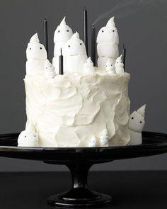 Chocolate Marshmallow-Ghost Cake and Mini Cupcakes Recipe