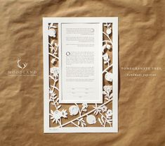 Pomegranate Tree papercut ketubah by WoodlandPapercuts on Etsy, $393.00