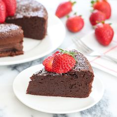 3 Ingredient Flourless Chocolate Cake with Large Eggs, Milk Chocolate Chips, Unsalted Butter. Flourless Chocolate Cakes, Chocolate Desserts, Chocolate Chips, Chocolate Ganache, Nutella Fudge, Cake Recipes, Dessert Recipes, Dessert Simple, Quick Dessert