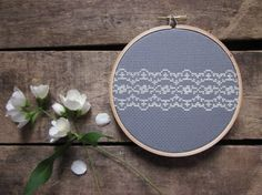 diy cross-stitch pattern/kit - amazing lace- to be framed in the 5 inch hoop VARIOUS COLORS