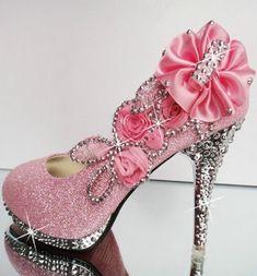 Pink wedding Shoes high heels <3