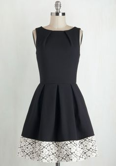 1960s Style Dresses - Luck Be a Lady Dress in Black and Lace