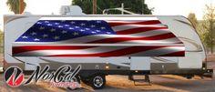 NorCal awnings American flag patriotic awning Small Business Solutions, American Flag, Rv, Waves, Motorhome, Caravan Van, Wave, American Flag Apparel, Beach Waves
