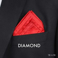 The Diamond Pocket Square Fold Instructions - Moja strona Pocket Square Folds, Pocket Square Styles, Men's Pocket Squares, Handkerchief Folding, Gentleman, Mens Style Guide, Costume, Sharp Dressed Man, Mens Fashion