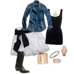 Cute Cowgirl, created by abonney on Polyvore
