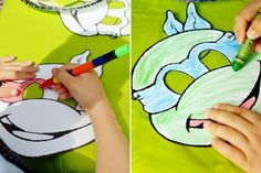 Printable colouring in masks