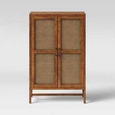 Classic Cabinet - Target Added Hundreds Of Fall Home Items - Here's Our Edit - Photos Library Cabinet, Classic Cabinets, Cabinet Door Styles, Rattan Furniture, Furniture Ideas, Living Room Storage, Farmhouse Interior, Autumn Home, Panel Doors