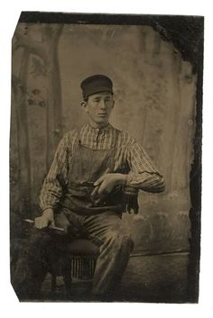 stone mason Five Occupational Tintypes, - Cowans Auctions