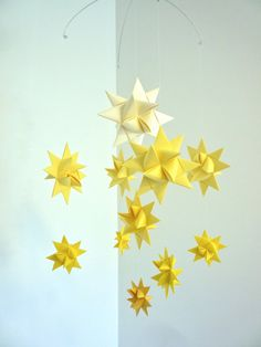 Origami Stars Mobile - Decoration and gift for Susan ($38)
