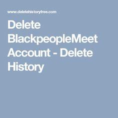 Delete BlackpeopleMeet Account - Delete History