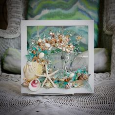 This Sea Glass Wave Art wall hanging is the perfect addition for any beach home or beach bathroom. Sitting in a pure white frame, this seashell wave measures approximately 9 x 9. All the shells are attached with resin, to the clear glass, which bonds and adds the illusion of water droplets. There Beach Cottage Decor, Coastal Decor, Bathroom Wall Art, Bathroom Beach, Blue Wall Decor, Cheap Rustic Decor, Heart Wall Art, Accessories Display, Wave Art