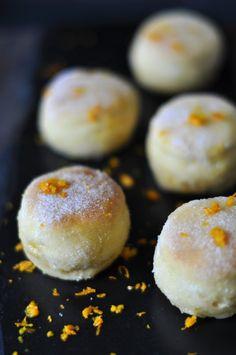 mandarin orange & olive oil doughnut holes
