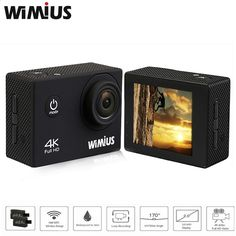 (77.40$) Buy here - aituo.worlditems.... - Wimius 4K Action Cam WIFI WebCamera Full HD 1080P 16MP Waterproof Sport Camera 170Deg Wide-angle 2.0 LCD screen Accessories Kit