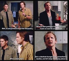 Only in Supernatural would an archangel keep the Titanic from sinking just to prevent a song ~ I love you Balthazar.