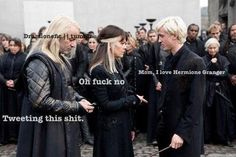 Draco & Hermione - Dramione Lucius would NOT tweet that he would  cast the crutacious curse crucio on draco